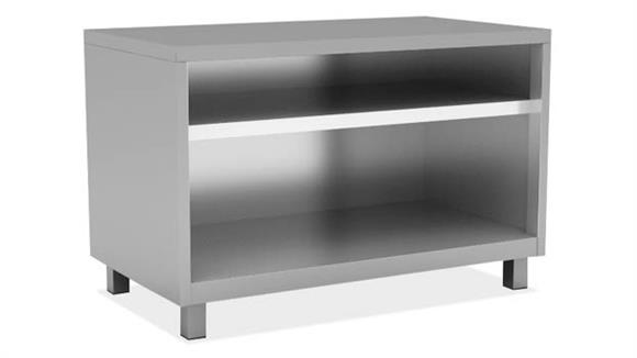 """Bookcases Office Source Furniture 30""""W Bookcase with 1 Shelf, Leg Base"""