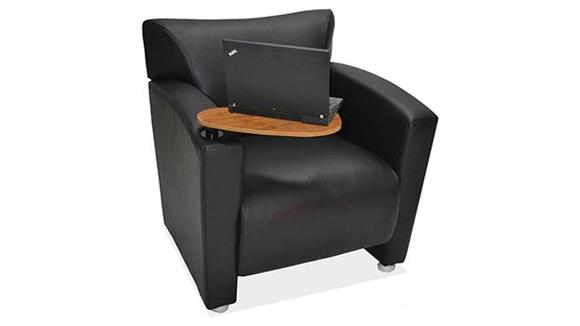 Side & Guest Chairs Office Source Furniture Tribeca Club Chair with Arm Tablet