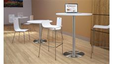 """Cafeteria Tables Office Source Furniture 24"""" Round Cafe Height Table with Brushed Aluminum Base"""