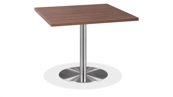 "Cafeteria Tables Office Source Furniture 42"" Square Cafeteria Table with Brushed Aluminum Base"