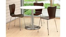 """Cafeteria Tables Office Source Furniture 36"""" Round Cafeteria Table with Brushed Aluminum Base"""