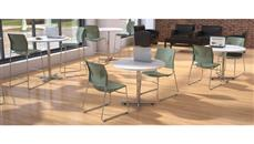 """Cafeteria Tables Office Source Furniture 42"""" Round Cafeteria Table with Chrome Base"""