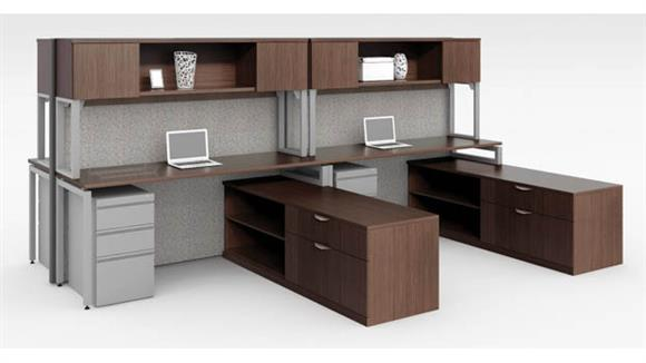 Workstations & Cubicles Office Source Furniture Workstation for 4 with Storage