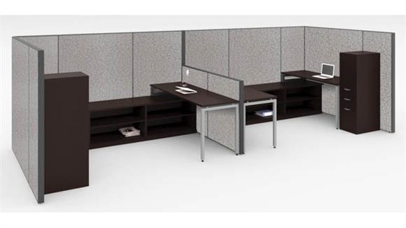 Workstations & Cubicles Office Source Furniture Workstation for 2 with Storage