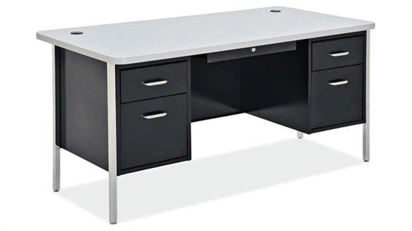 "Steel & Metal Desks Office Source Furniture 60"" x 30"" Steel Teachers Desk"