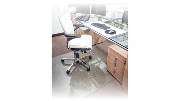 """Chair Mats Office Source Furniture 40"""" x 60"""" Glass Chairmat"""