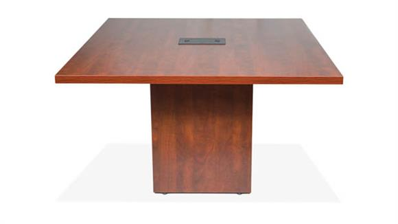 "Conference Tables Office Source Furniture 48"" Standing Height Conference Table with Cube Base"