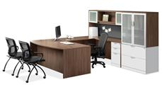 U Shaped Desks Office Source Furniture U Shaped Desk with Hutch and Additional Storage