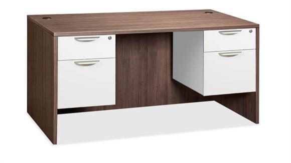 "Executive Desks Office Source Furniture 60"" Double Pedestal Desk"