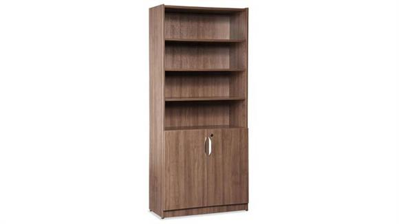"Bookcases Office Source Furniture 71"" High Bookcase with Doors"
