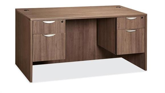 "Office Credenzas Office Source Furniture 60"" x 24"" Double Pedestal Credenza"