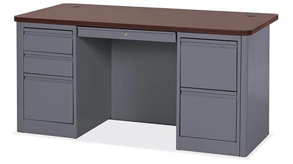 Steel & Metal Desks Office Source Furniture Single Right Pedestal Steel Desk