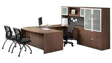 U Shaped Desks Office Source Furniture U Shaped Desk with Hutch and Additional Storage
