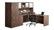 L Shaped Desks Office Source Furniture L Shaped Desk with Hutch and Wardrobe Storage