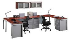 L Shaped Desks Office Source Furniture 2 Person L Shaped Table Desk with Hutch