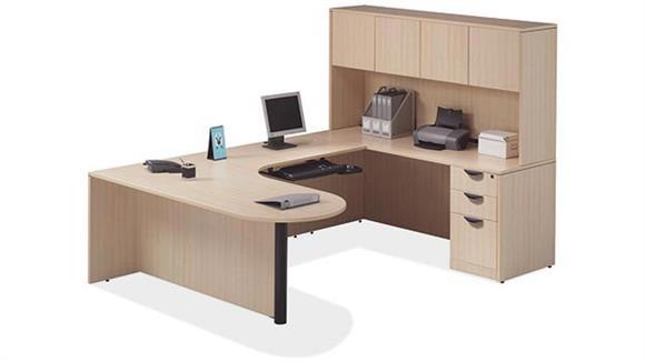 U Shaped Desks Office Source Furniture Bullet U Shaped Desk with Hutch