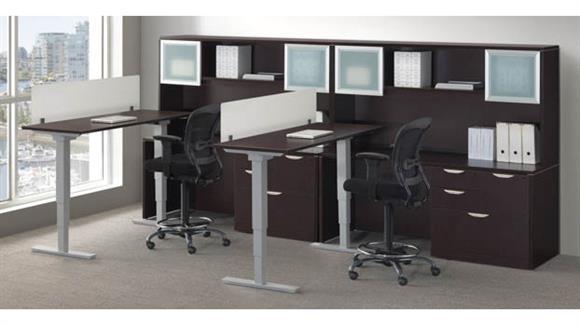 Standing Height Desks Office Source Furniture 2 Person Workstation with Standing Desks