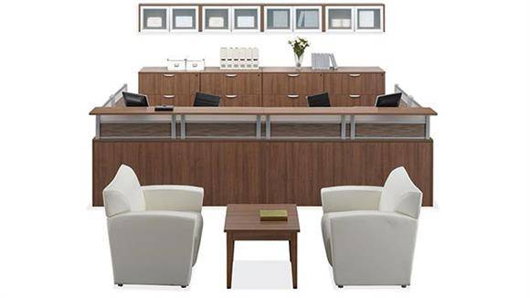 Reception Desks Office Source Furniture 2 Person Reception Workstation
