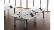 Adjustable Height Desks & Tables Office Source Furniture StandUp Standing Desk Workstation for 4