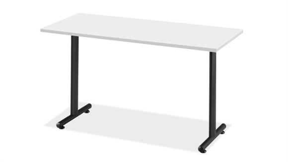"Training Tables Office Source Furniture 48"" x 30"" Training Table with T Legs"