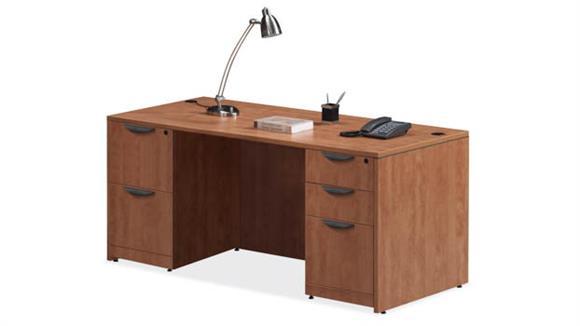 "Executive Desks Office Source Furniture 66"" x 30"" Double Pedestal Desk"