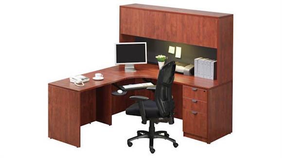 Corner Desks Office Source Furniture Corner Desk with Hutch