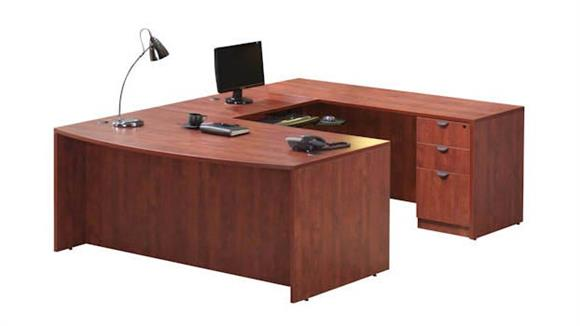 U Shaped Desks Office Source Furniture U Shaped Desk with 1 Pedestal
