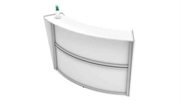 Reception Desks Office Source Furniture Reception Station - Main Panel - Single