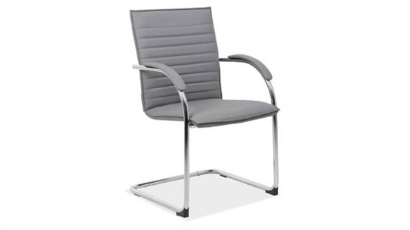 Side & Guest Chairs Office Source Furniture Sled Base Guest Chair with Chrome Frame