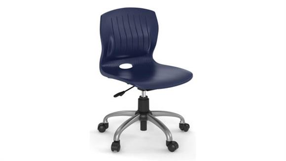 Office Chairs Office Source Furniture Armless Poly Swivel Chair with Chrome Frame