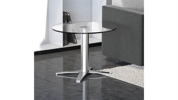 "Coffee Tables Office Source Furniture 24"" Glass Top Coffee Table"