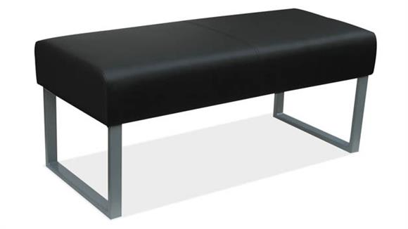 Big & Tall Office Source Furniture Big & Tall Bench with Silver Frame