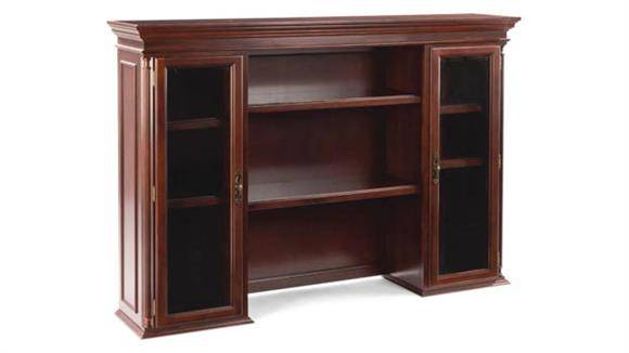 Hutches Office Source Furniture Hutch with Beveled Glass Doors