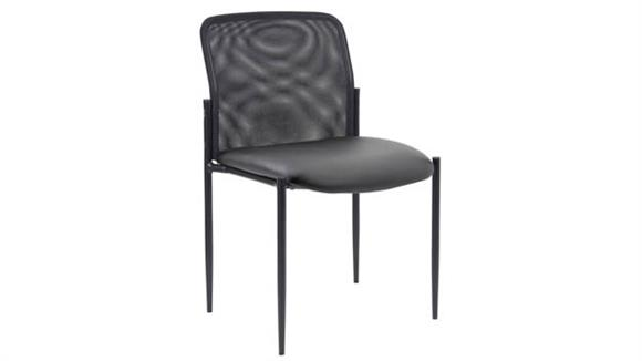 Side & Guest Chairs Office Source Furniture Armless Side Chair with Mesh Back