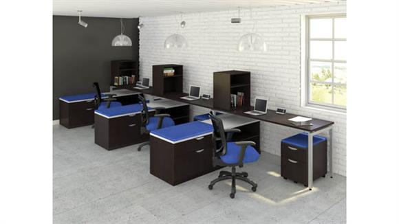 Workstations & Cubicles Office Source Furniture 3 Person Workstations