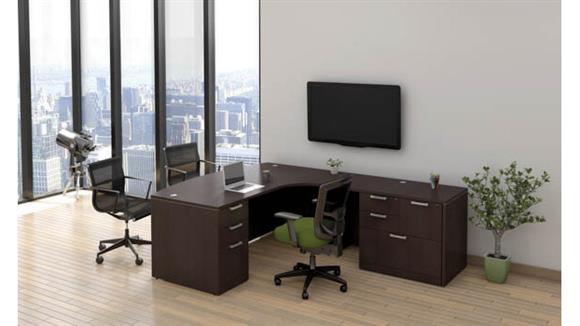 """L Shaped Desks Office Source Furniture 71"""" x 95"""" L Shaped Desk"""