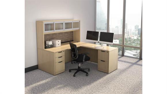 "L Shaped Desks Office Source Furniture 71"" x 83"" L Shaped Desk Unit"