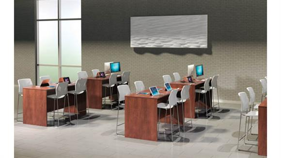 Training Tables Office Source Furniture Set of 4 Sit-to-Stand Desks