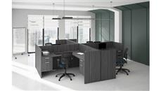 Workstations & Cubicles Office Source Furniture 4 Person Workstation