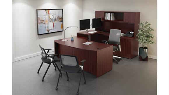 Standing Height Desks Office Source Furniture U Shaped Sit-to-Stand Unit
