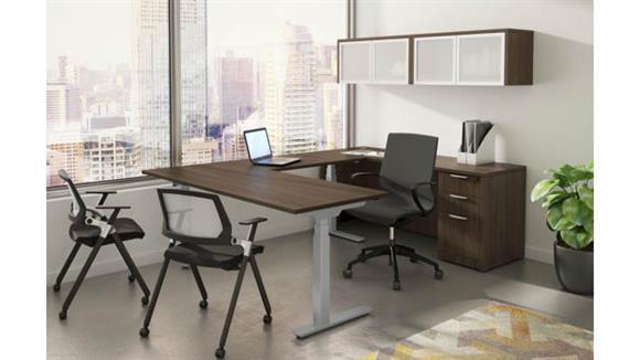 Standing Height Desks Office Source Furniture U Shaped Standing Desk Unit