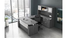 U Shaped Desks Office Source Furniture Adjustable Height U Shaped Desk with Hutch