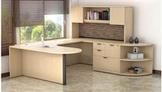 U Shaped Desks Office Source Furniture U Shaped Desk with Hutch and Storage