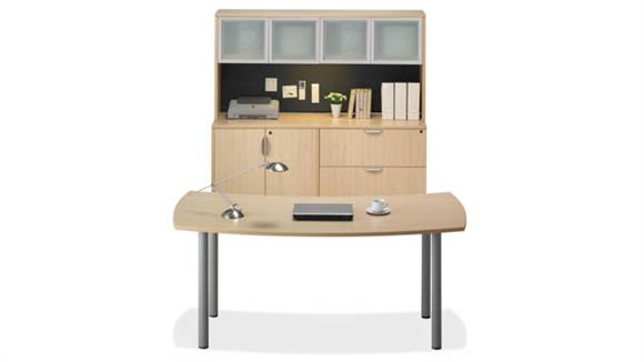 Workstations & Cubicles Office Source Furniture Desk with Credenza & Hutch