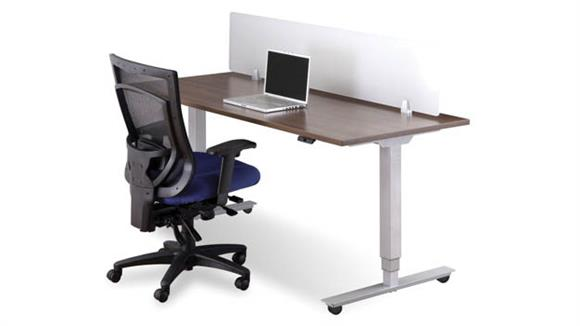 "Standing Height Desks Office Source Furniture 60""W x 30""D Mobile Standing Desk"