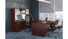 U Shaped Desks Office Source Furniture U Shaped Desk with Hutch