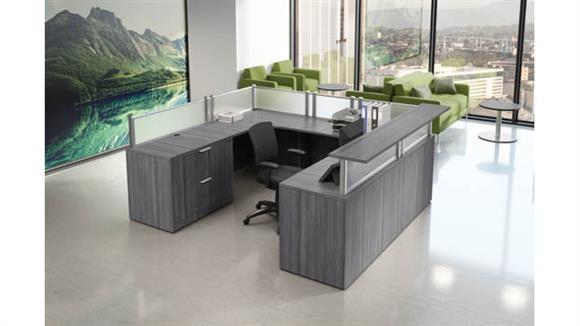 Reception Desks Office Source Furniture U-Shaped Work Station with Reception Transaction Top