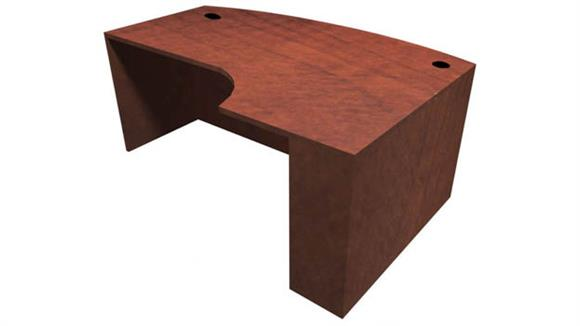 Executive Desks Office Source Furniture Bow Front Desk Shell with Right Extension