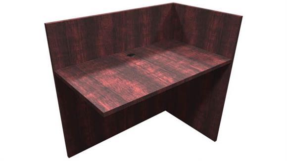 "Desk Parts & Accessories Office Source Furniture 42""W x 24""D x 40.5""H Reception Reversible Return"