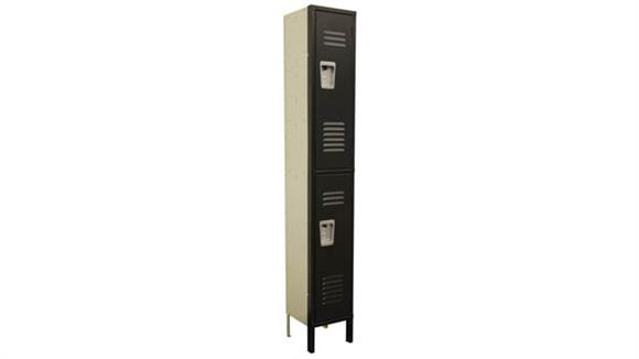 "Lockers Office Source Furniture Corridor Locker - 2 Tier 12""W x 12""D x 72""H"